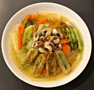 Saigon Kava sweet and sour vegan soup