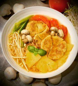 Saigon vegan pineapple soup